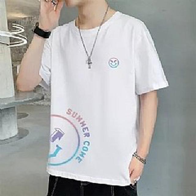 預購 MS7095潮流男裝 純棉半袖休閒T恤(5色)