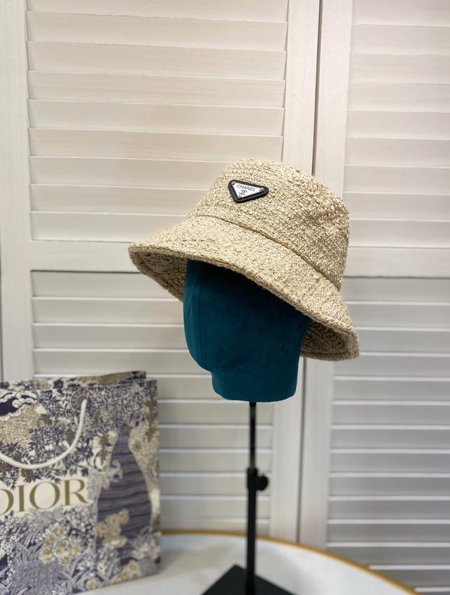 【CHANEL香奈兒】2020新款帽子粗花呢小香風漁夫帽 17001703