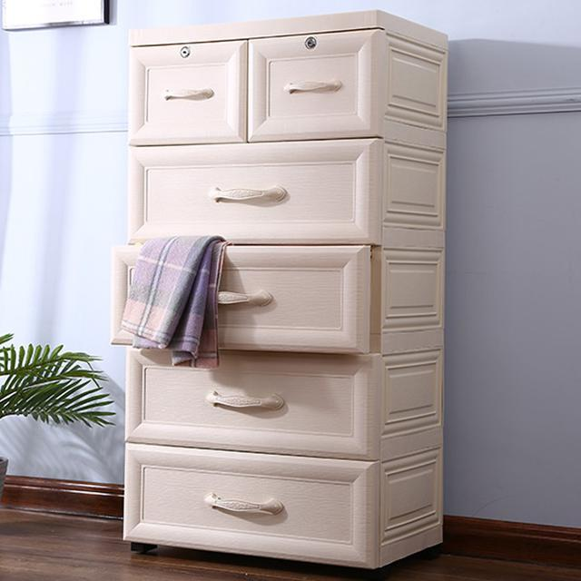 北歐加厚收納櫃子 抽屜式收納櫃 塑膠儲物櫃 衣服箱 玩具收納櫃