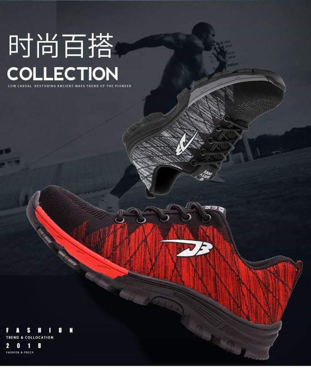 透氣運動款防穿刺護腳安全工作鞋