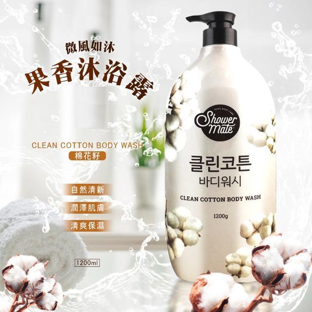 韓國 S.M. 微風如沐果香沐浴露 1200ml-棉花籽(白)
