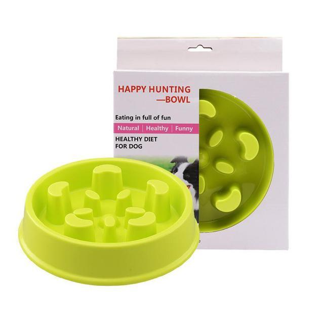 CS0322-塑料貓碗狗碗寵物慢食盆 貓咪狗狗寵物吃飯防噎碗慢食碗