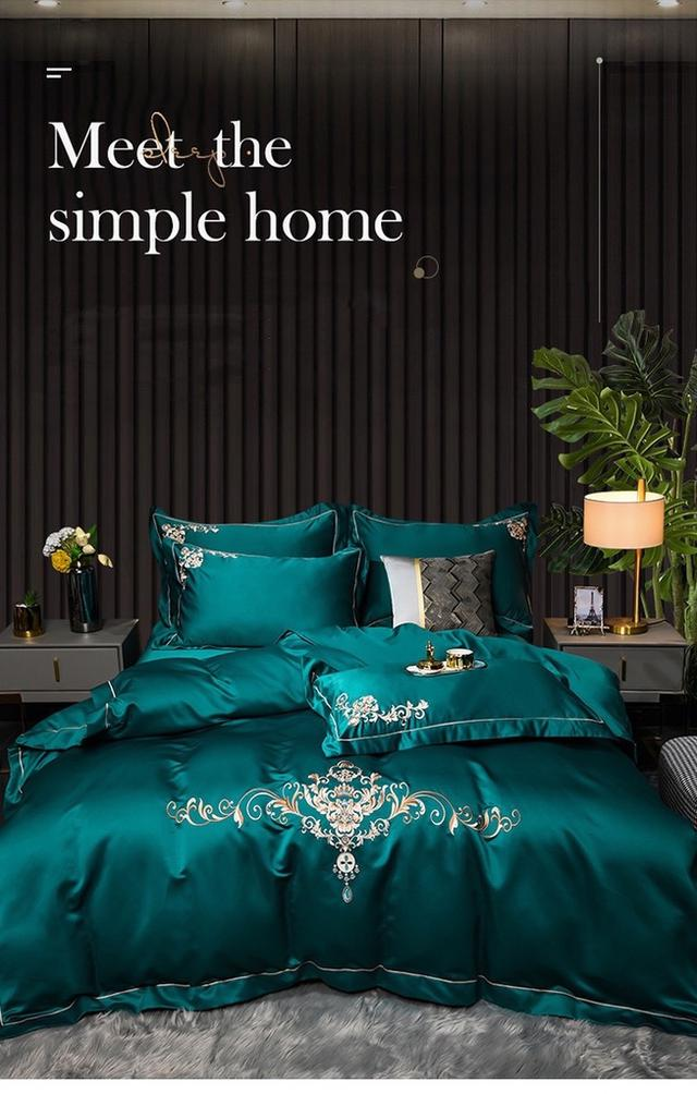 水洗貢緞真絲四件套/天絲四件/床包/床罩/寢具