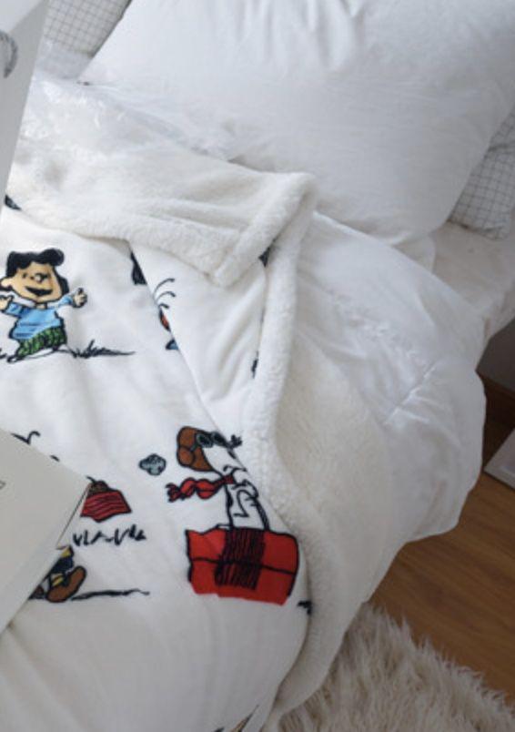 外貿美國卡通雙層印花毯 3款
