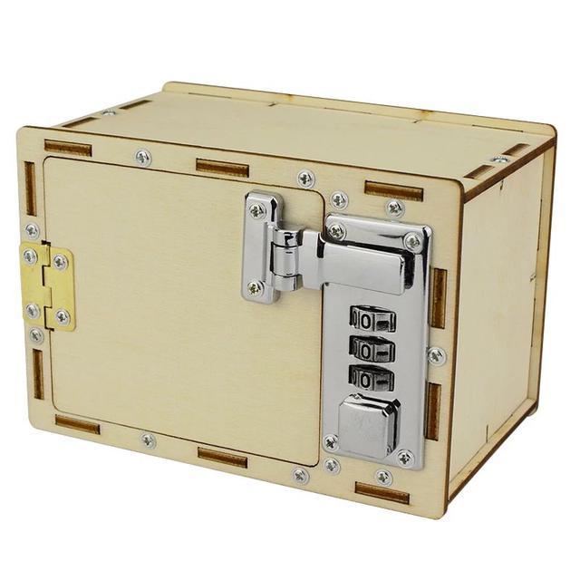 科技小製作小發明男孩 手工製作機械密碼箱LSJ19072309