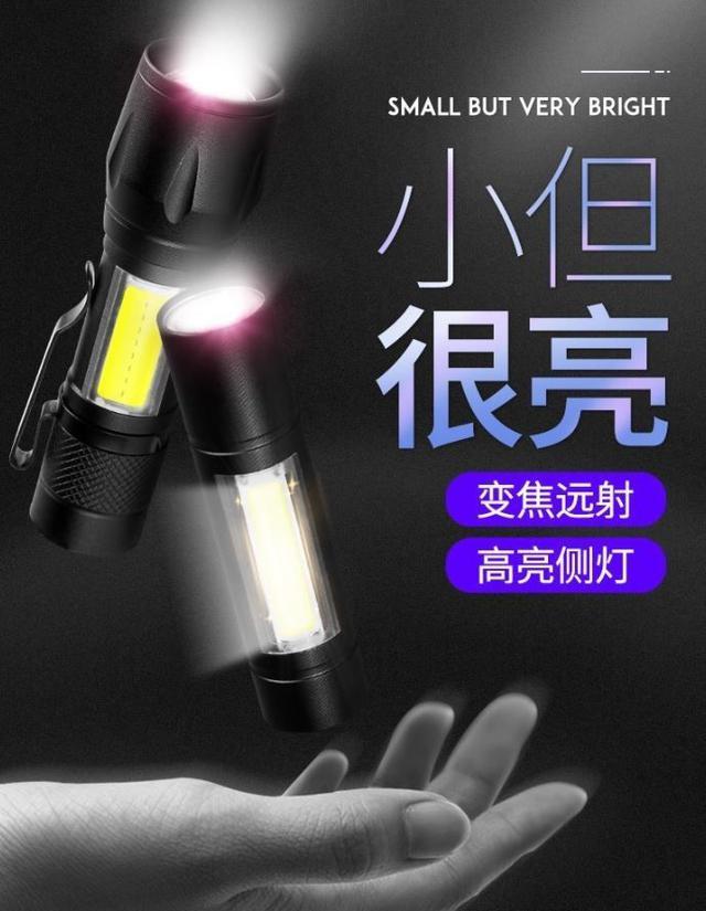 (預購e) 迷你變焦LED隨身手電筒