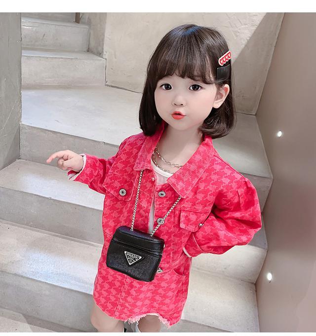 韓版女童牛仔裙子兩件套洋裝(貝)