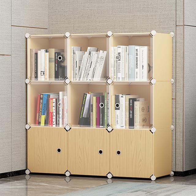DIY大容量書架 落地簡約現代學生用小書桌面置物架組裝組合