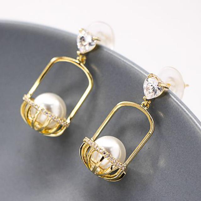 韓系優雅珍珠耳環