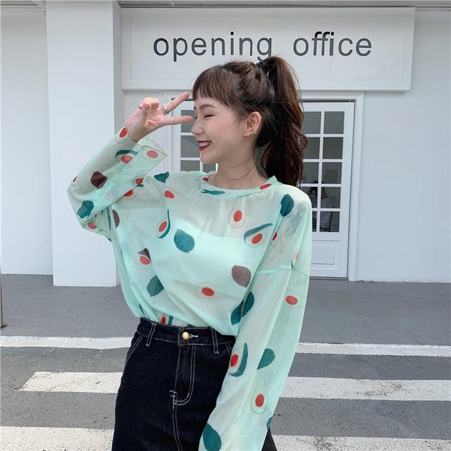 【預購】夏季新款 水果薄款防曬上衣