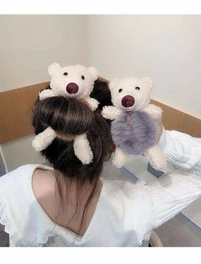 絨毛小熊髮圈