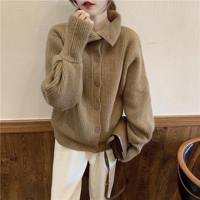 T10A9069#實拍2020韓版高領疊穿毛衣外套