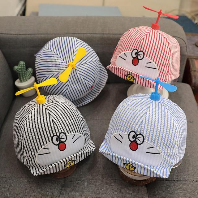 預購嬰兒帽子春夏季卡通竹蜻蜓鴨舌帽
