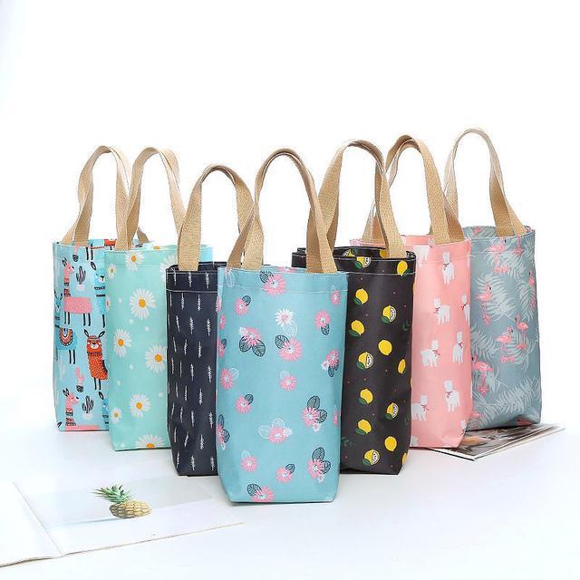 (中號7~12款)手拎水杯袋子燜燒壺套時尚便捷收納雨傘保溫杯袋子手提便攜水壺袋