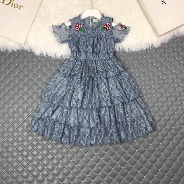 Dio*迪新品潮牌蕾絲蛋糕裙.公主連衣裙,禮服裙