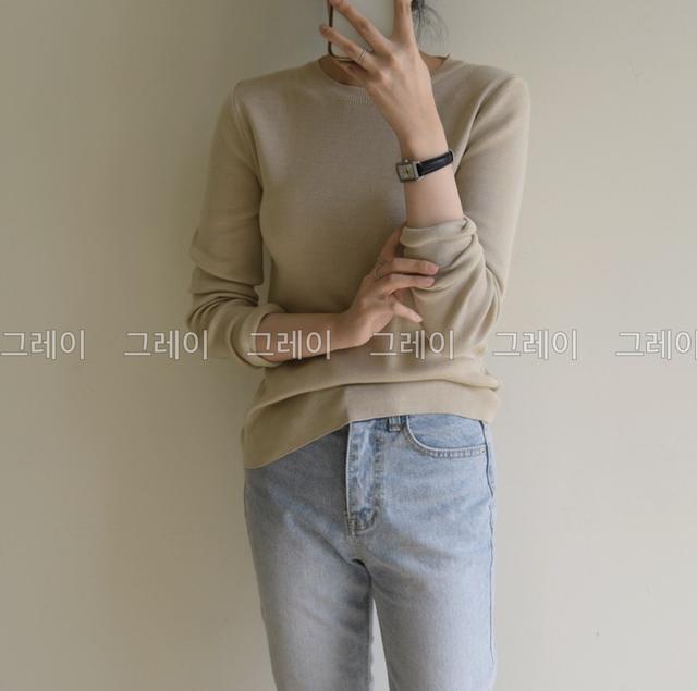 正韓✈️🇰🇷 2065391 10컬러 가을 클내식니트高端品質內搭衣