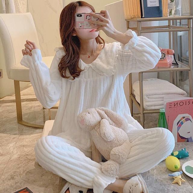 【預購】公主風法蘭絨居家套裝
