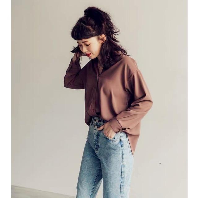 【批發&零售】「中山V領純色襯衫 」✨設計師百搭款👑