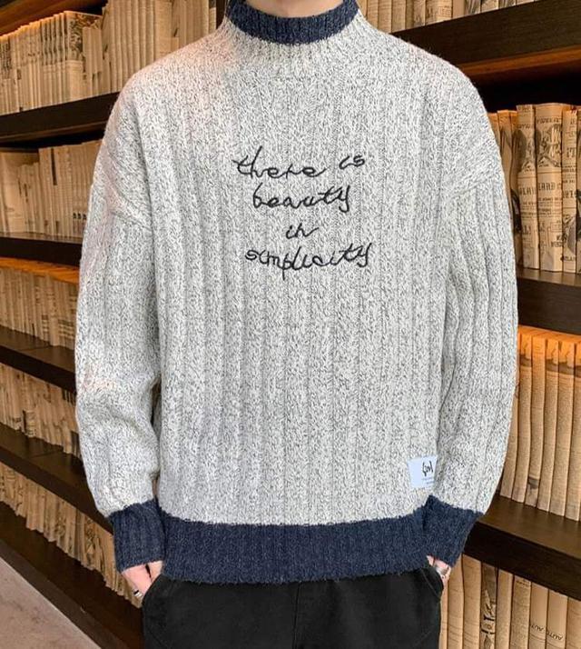 【預購】韓版坑條針織衫