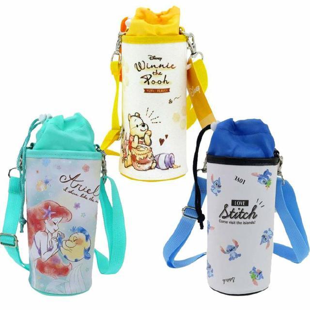 保冷保溫水壺袋 500ml-小熊維尼 小美人魚 史迪奇 迪士尼日本進口正版授權