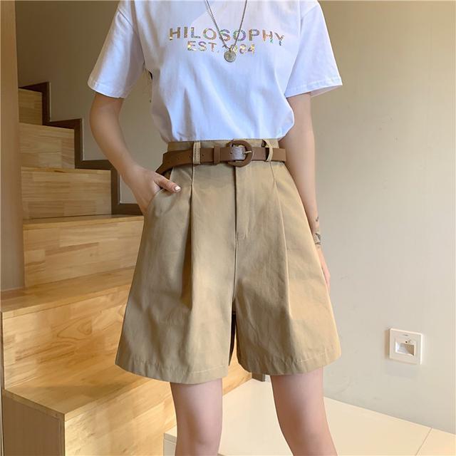 【預購】夏季高腰百搭擴腿褲