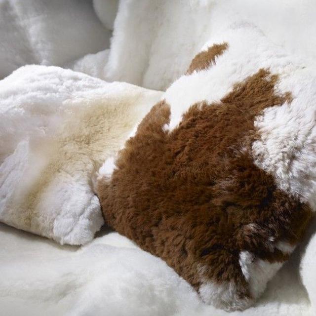 100%真皮🇦🇺AUSKIN 羊駝 駝羊 草泥馬 毛坐墊 抱枕套 二用