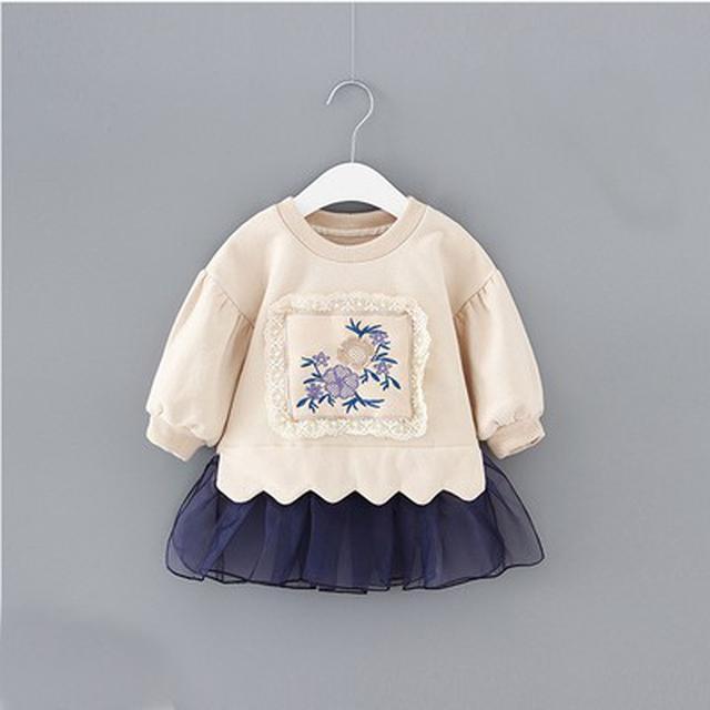 88302女童加绒衛衣連衣裙(I)
