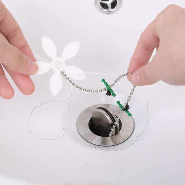 (預購S) 小花排水管防堵清潔毛髮清理疏通器(一組5個)