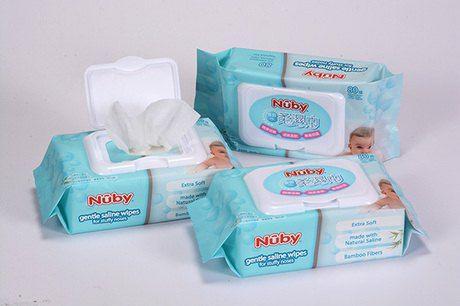 Nuby食鹽水柔濕巾80抽/3包