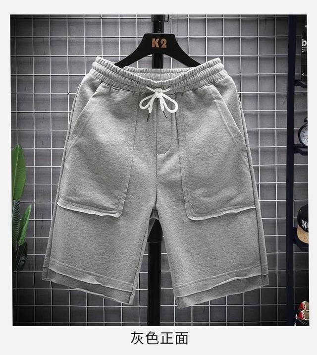 💡夏季新款韓版運動寬鬆直筒五分褲💡