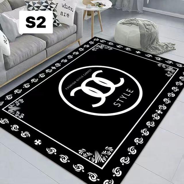 潮牌網紅地毯客廳茶几沙發毯 北歐個性臥室床邊毯房間裝飾品80×120~(S1~S10)