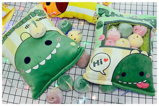 [雜貨店]💋一袋8個裝恐龍抱枕