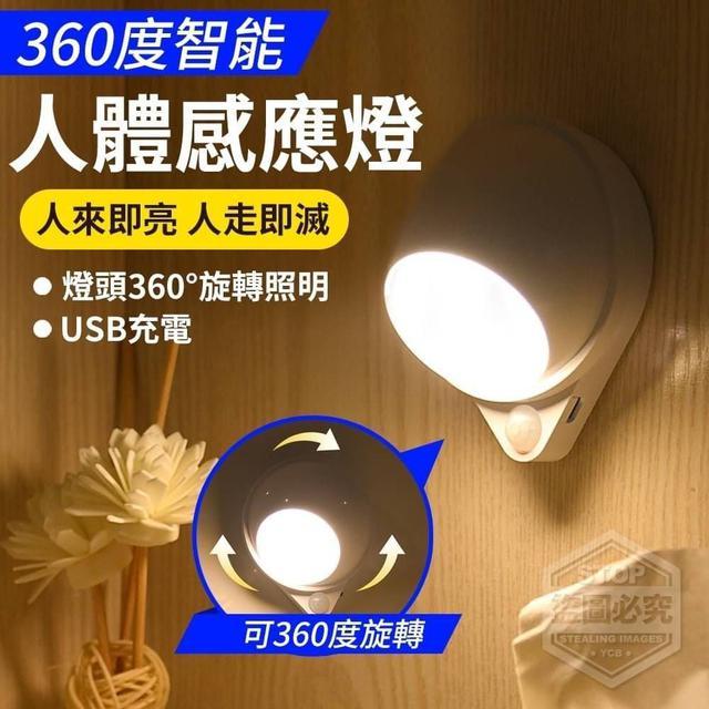 360度旋轉人體感應燈