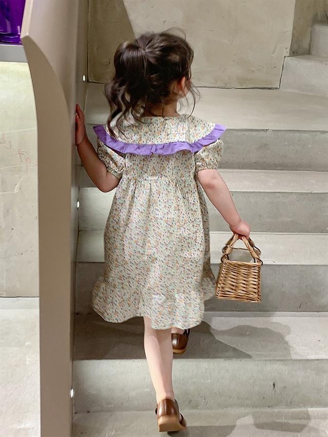 7083小香風女童夏裝連衣裙