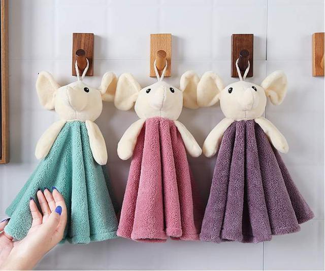 【預購】可愛大象玩偶造型擦手巾