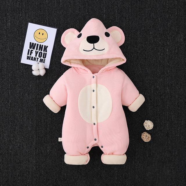 可愛熊寶寶厚款包屁衣