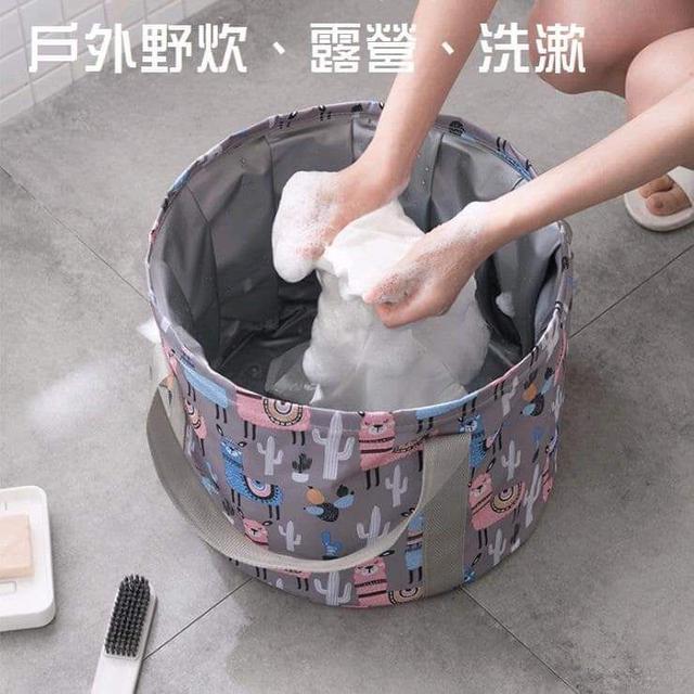 (預購S) 可攜式摺疊泡腳洗漱水桶