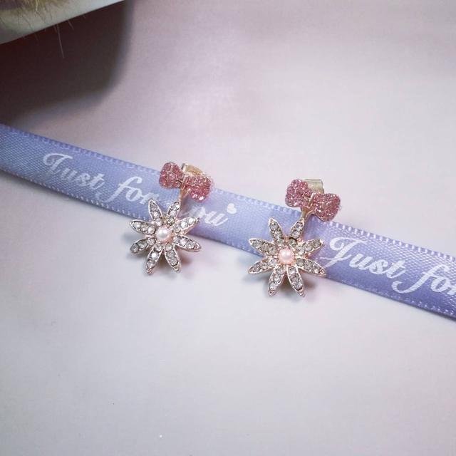 韓風 簡約甜美珍珠花款 925銀針