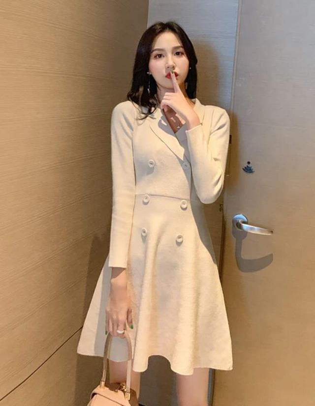 【預購】純色修身洋裝