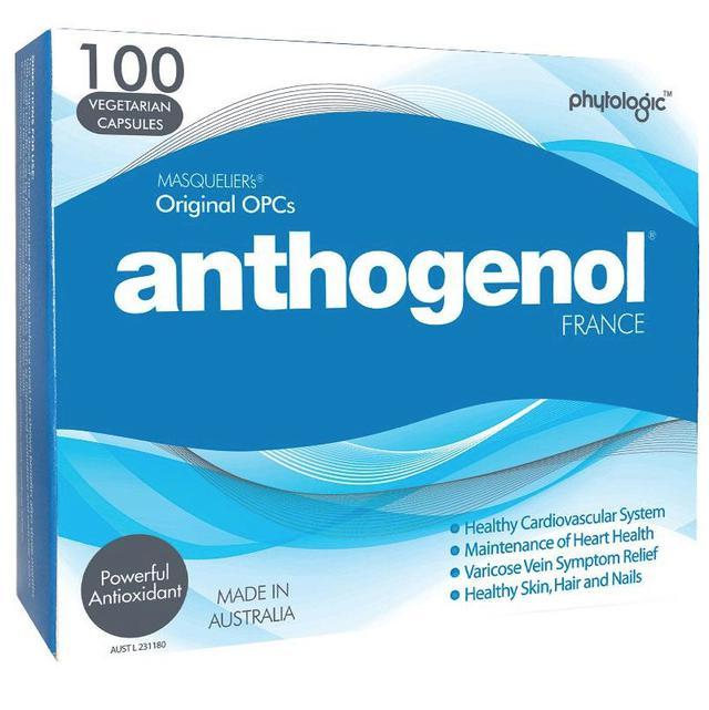 Anthogenol 月光寶盒 花青素葡萄籽精華100粒 一盒