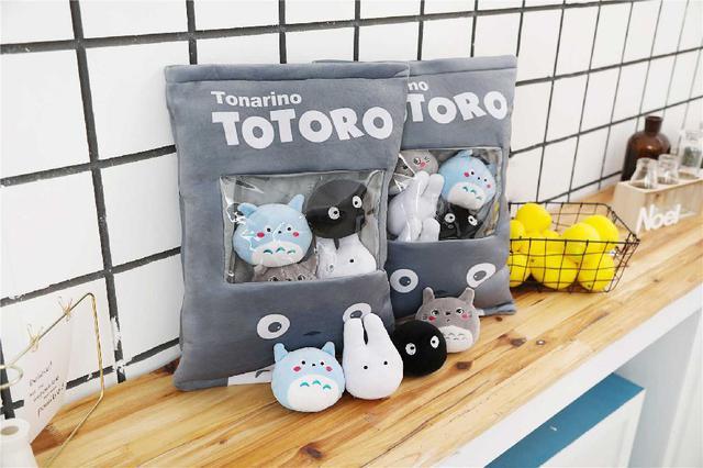 [雜貨店]💋灰色可愛龍貓零食抱枕