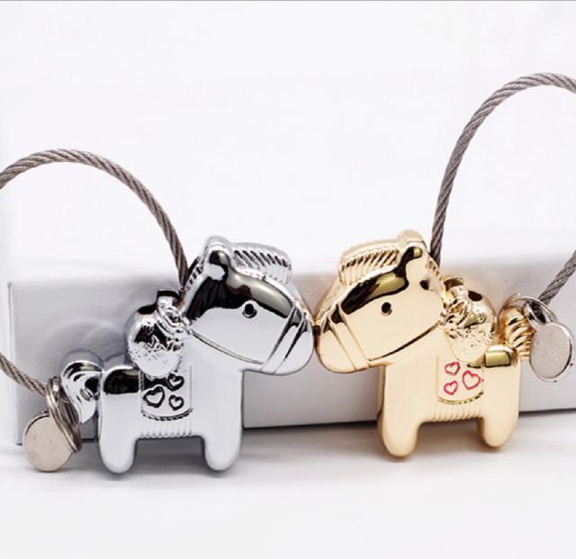 (2入)情侶馬上有錢磁鐵KEY圈