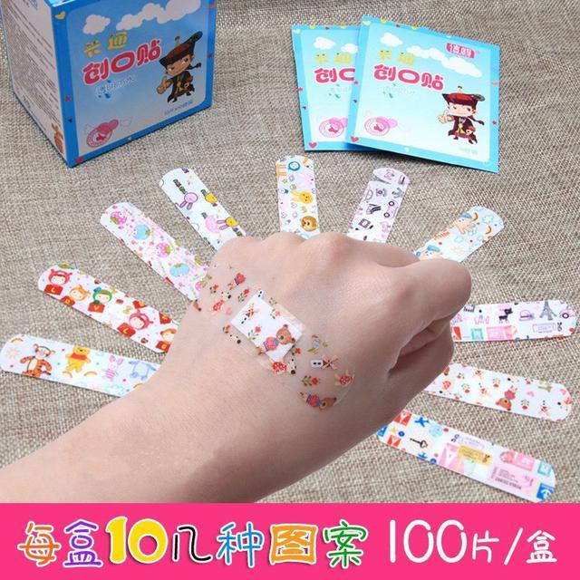 【N.T.F-現貨+預購款】防水透明卡通印刷創口貼100片裝