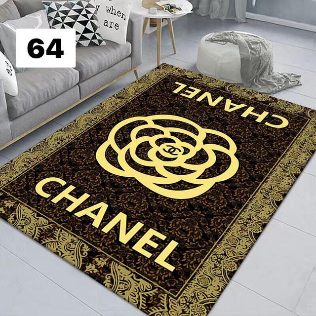 網紅黑色潮牌地毯客廳茶几沙發毯 北歐個性臥室床邊毯房間裝飾品