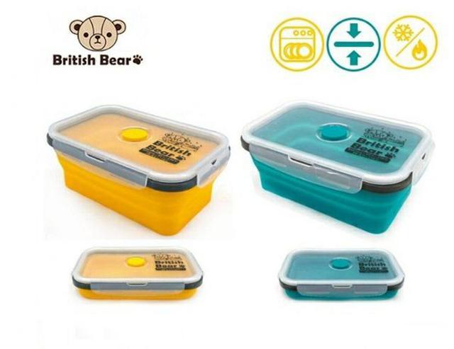 預購 🇹🇼 British Bear 英國熊矽膠折疊保鮮盒_不挑色