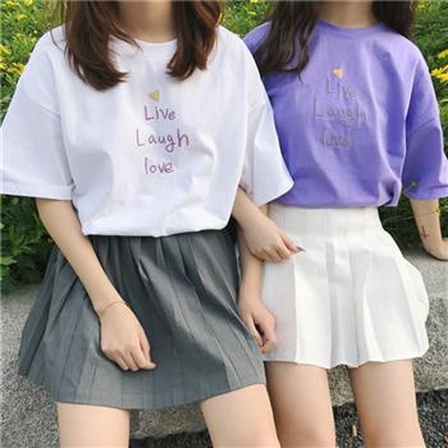 F60294 簡約學院風T恤(四色)