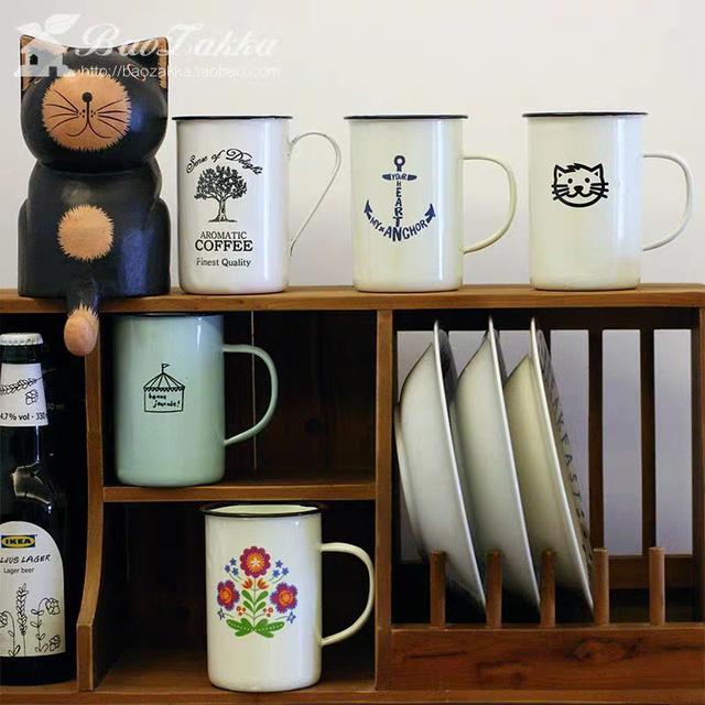 北欧复古咖啡杯马克杯大容量欧式创意简约陶瓷LSJ19072601