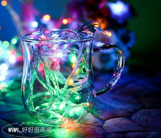 【VIVI批發網】LED聖誕燈 10米100燈110V 防水燈串 彩色綻放 藍色魅力 純淨雪白
