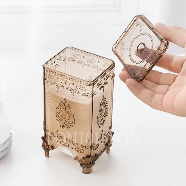 《歐式化妝棉收納盒》