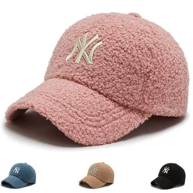 韓國東大門洋基羊羔毛棒球帽